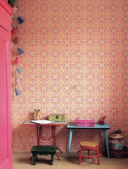 the boo and the boy: eclectic kids' rooms. Awesome wallpaper. A #CanDoBaby! fave.