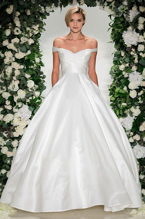21 best top billing weddings images on pinterest for Over the shoulder wedding dress