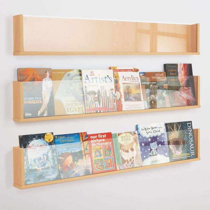 Shelf Style Wall Mounted Leaflet Display Simple sleek and modern design sold as a single unit