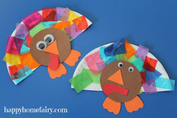 turkey craft for the Littles - cute,colorful, and EASY ...