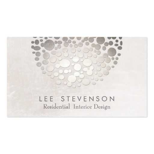 Modern Stylish Interior Designer Silver And Gray Business Card
