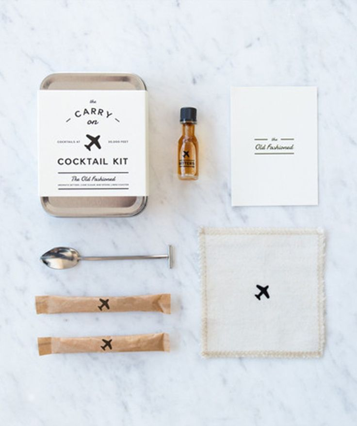 The Carry On Cocktail Kit provides everything you need to craft two delicious Old Fashioned cocktails mid-flight—all you need to add is the hard stuff. | huntingforgeorge.com
