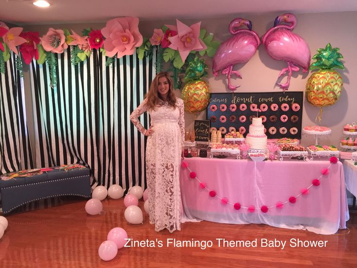 Flamingo Themed Baby Shower
