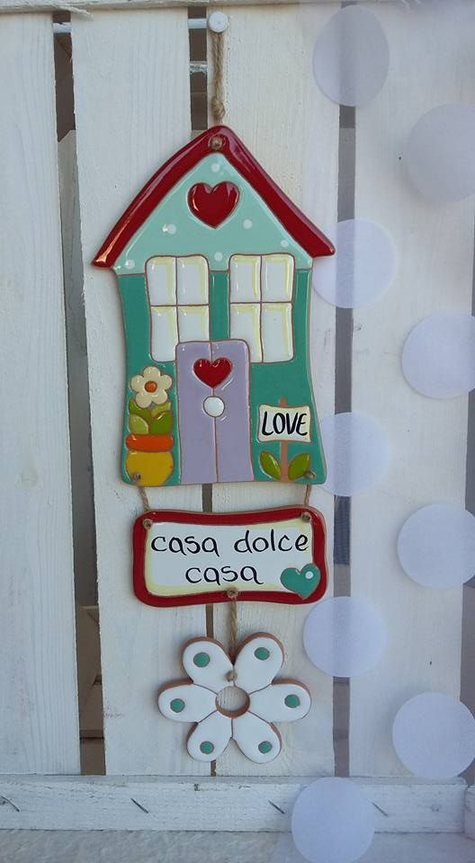 """ceramica come mestiere: Fuori porta """"casa dolce casa"""". Ceramica smaltata."""