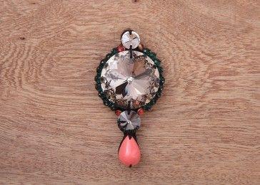 American rose crystal brooch pin# shop online.