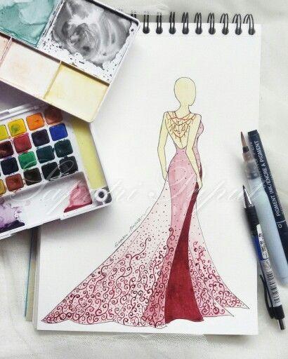 Embriodery Red Gown  #fashion #fashiondiaries #fashionblog #fashionweek #fashionillustration #fashionillustrator #fashionista #fashiondrawing #fashiondraw #fashionlook #lookbook #look #instafashion #red #wedding #embriodery #weddingdress #instafashion #vscocam #vsco #art #fashiondesign