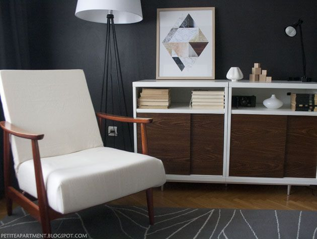 white and walnut bookcase - 52 Best Images About Home Office On Pinterest Retro Home, Mid