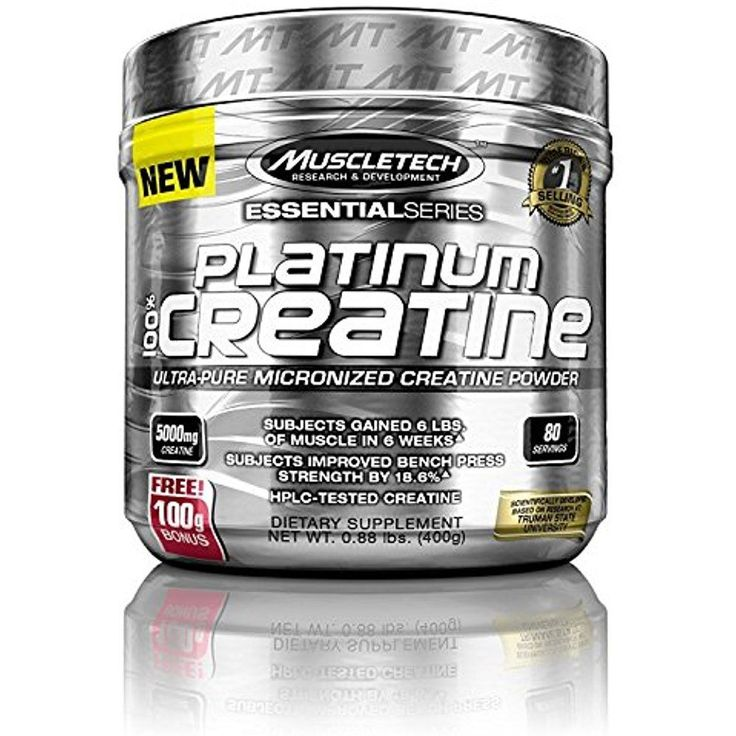 MuscleTech Platinum 100 Percent Creatine, Ultra-Pure Micronized Creatine Powder, #MuscleTech