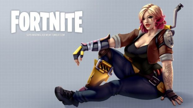 Fortnite Female Constructor By Marmalademum Fortnite Gamer Girl Best Gaming Wallpapers