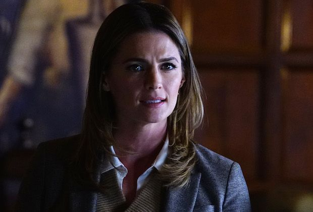 Not long into Castle's Season 8 premiere, viewers will learn what Kate Beckett decided about her career, having been courted to run for the New York state senate just as she passed the NYPD captain's exam. But if you can't wait another seven weeks, the ABC drama's new showrunners are here to resolve that small