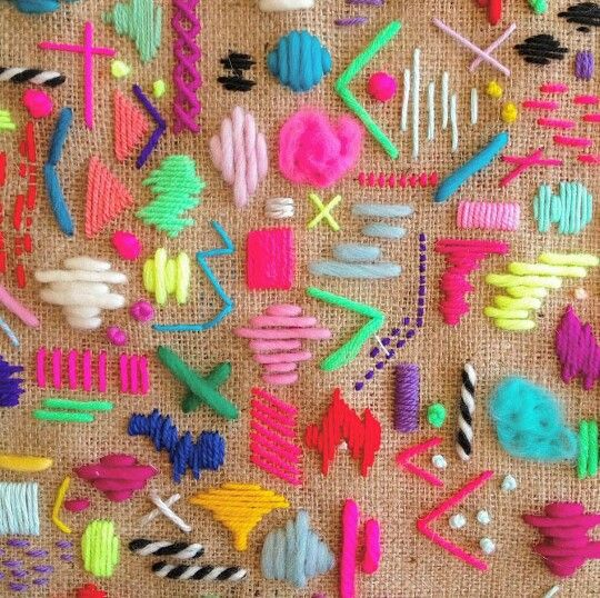 Colorful stitches