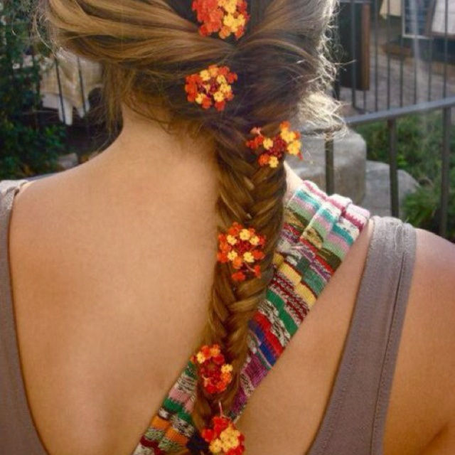 Braids Hairstyles, Flower Girls Hair, Summer Hair, Festivals Hair, Longer Hair, Hair Style, Growing Hair, Fishtail Braids, Flower Hair