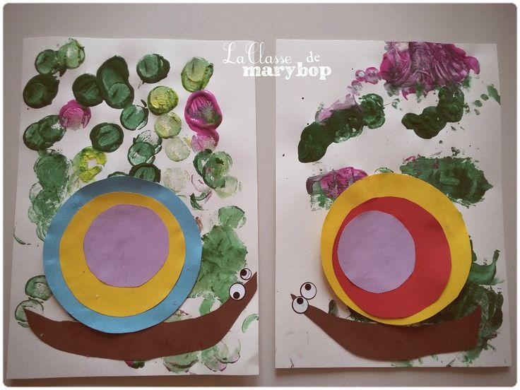 Escargots Maternelle La Classe de Marybop -