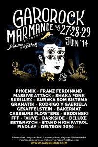 Affiche Festival Garorock 2014 - Marmande (France)