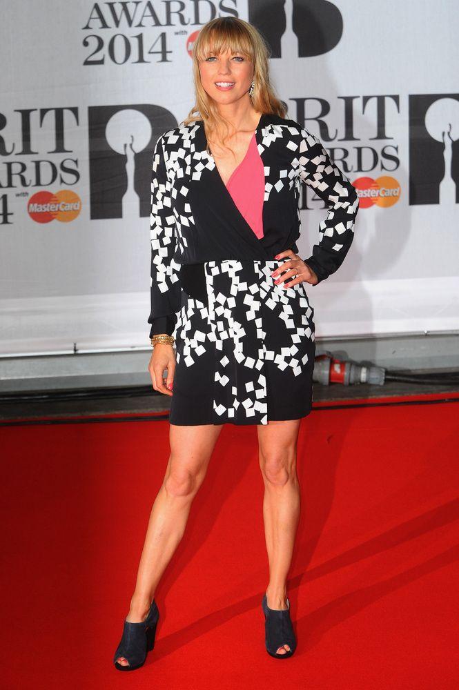 Sara Cox at the 2014 Brit Awards Red Carpet