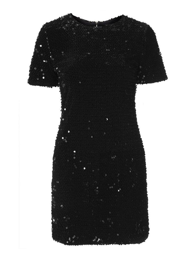 Op zoek naar TOPSHOP Korte zwarte jurk met pailletten ? Ma t/m za voor 22.00 uur besteld, morgen in huis door PostNL.Gratis retourneren.