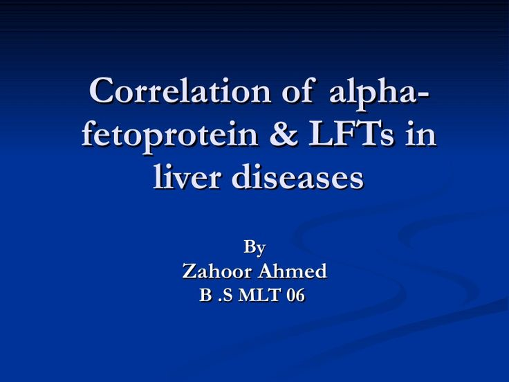 Correlation Of Alpha Fetoprotein & Lf Ts In Liver