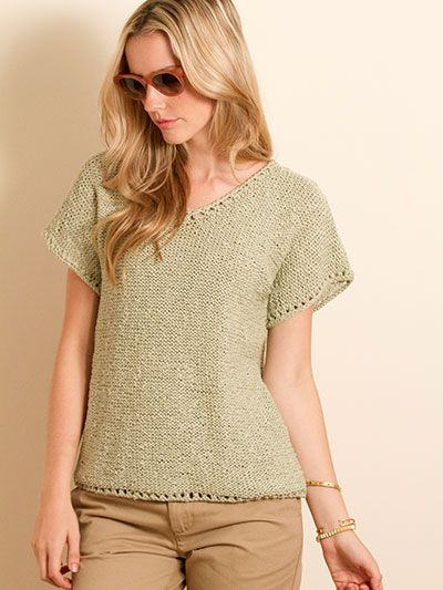 93 best images about Knit Tank, Tee & Pullover Patterns on Pinterest