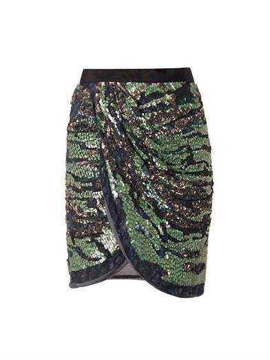 Elmira embellished wrap skirt | Isabel Marant | MATCHESFASHION...