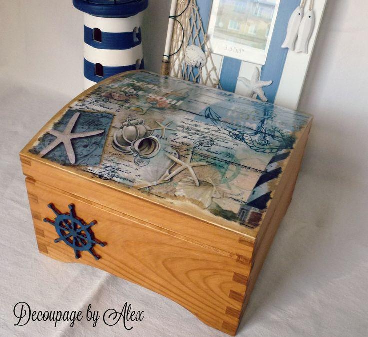 Decoupage sailor box