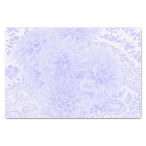 "Dahlias In Blue 10"" X 15"" Tissue Paper"