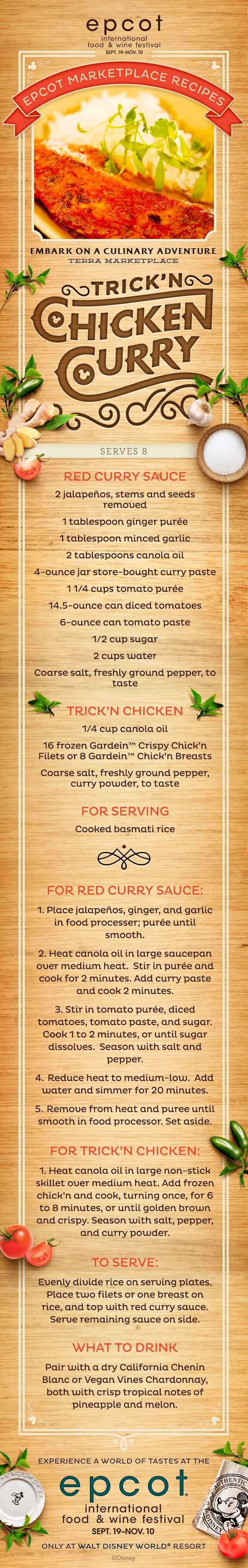 Chicken Curry Recipe from Epcot International Food & Wine Festival at Walt Disney World