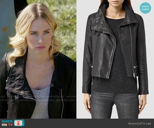 Melissa's leather jacket on Last Man on Earth.  Outfit Details: https://wornontv.net/57472/ #LastManOnEarth  Buy it at All Saints: http://wornon.tv/35939