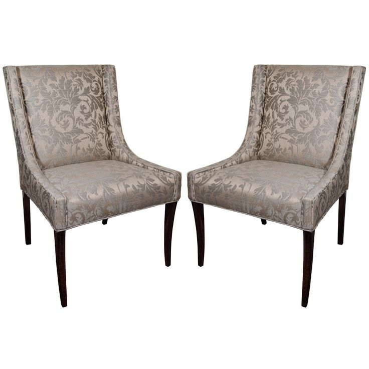 Pair of Elegant Upholstered Occasional Chairs with High Back Design - 9 Best Mid Century Dining Chairs, Side Chairs And Banquettes