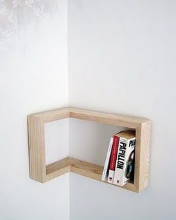 Cool corner bookshelves