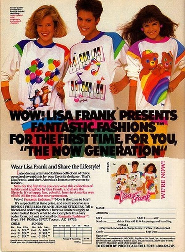 let's just say i was liked Lisa Frank a lot in the '90s..  48 Pictures That Perfectly Capture The '90s