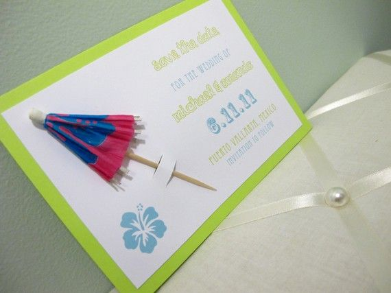 Fun and simple invitation for baby 1st luau...obviously change the wording but could be done without having to order them!