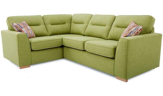 Stenson L Shape Fabric Sofa (Green) : Buy Online Amazing L Shape Corner Sofa in #India from Wooden Street.
