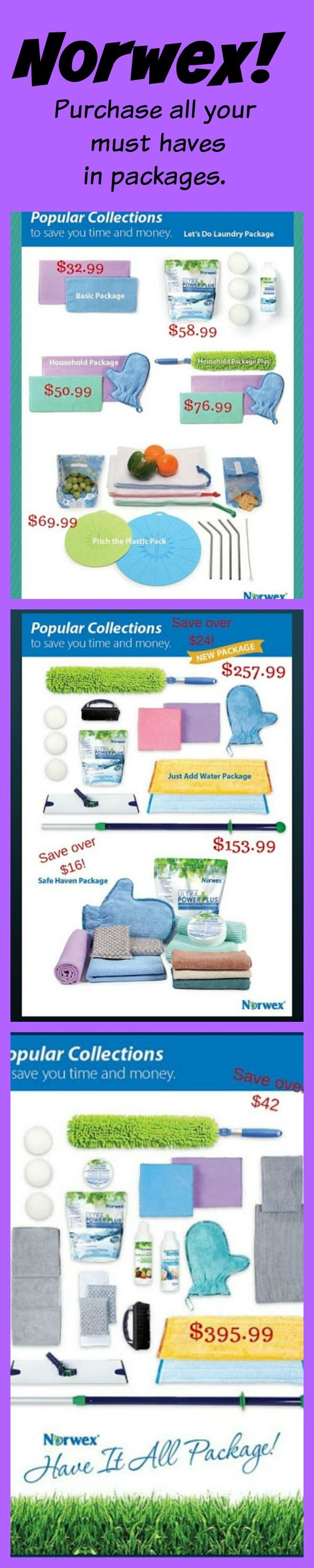 Receive all your Norwex must haves in packages to make cleaning easy and safe!   Click on image to see my full Norwex Virtual Catalog.