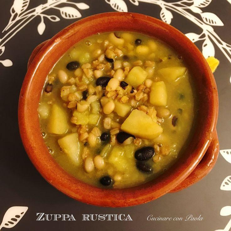 Zuppa Rustica 🍵con farro, fagioli neri, patate e fagioli dell'occhio! Questa sera ricetta sul blog! https://cucinareconpaola.blogspot.com #foodporn #foodblogger #food #foodstagram #foodlover #foodblog #foodphotography #instafood #cucinare #cucinareconpaola #inmykitchen #zuppa #inverno #recipe #benessere #bio #vegan #veg