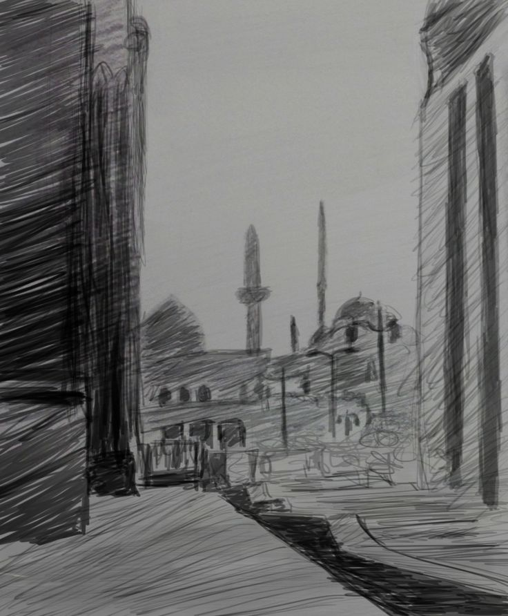 seen from al sultan hassan mosque's sketch ''digital''
