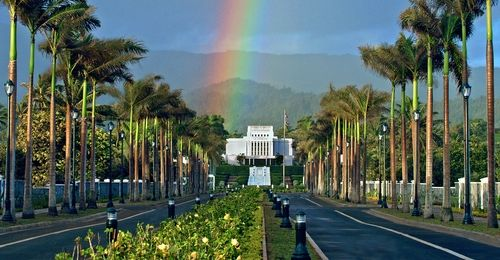 Laie Hawaii Temple next to the BYU Hawaii campus