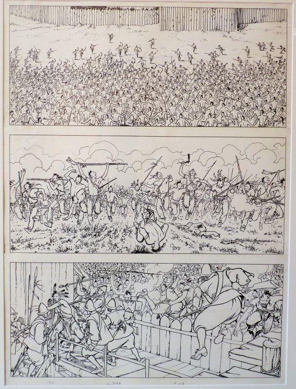 Indian Summer, script by Hugo Pratt, art by Milo Manara / Un été indien par Milo Manara, Hugo Pratt - Planche originale