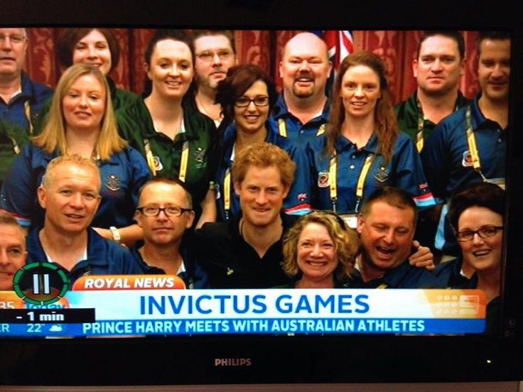 Prince Harry meets Australian athletes