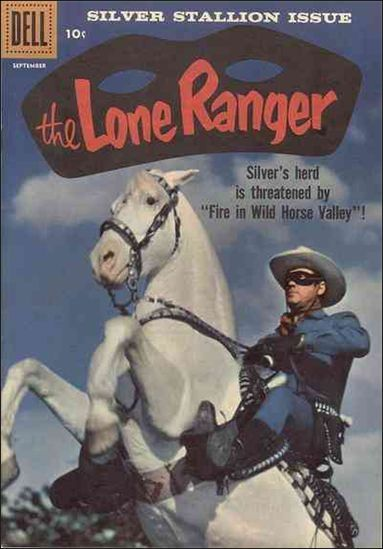 the lone ranger old comic book covers | Lone Ranger (1948) 123-A by Dell
