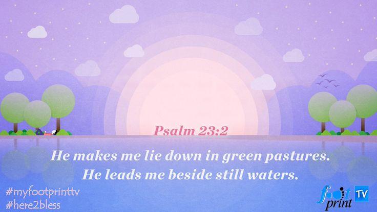 psalm 23:2 -3 - Twitter Search