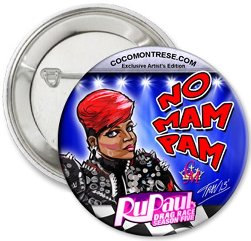 Was asked by RuPaul's Drag Race Season 5 FIERCE queen CoCo Montrese for my permission to use my art in a design for sale on buttons at her show and her online shop. SUCH a sweet person.