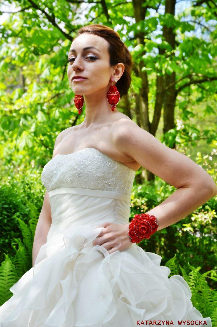 soutache earrings and bracelet 'Byzantikon' by MagiaSoutache.deviantart.com on @deviantART