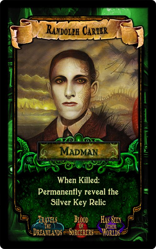 """Randolph Carter - from the party game """"Arkham Nights"""" by Dann Kriss Games, with art by Ian Daniels © 2015"""