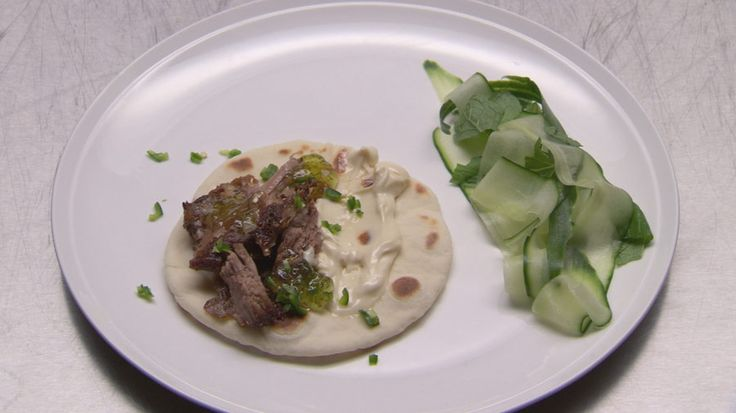 Matt Preston's Slow Roasted Lamb with Flatbread and Mayo - Masterchef