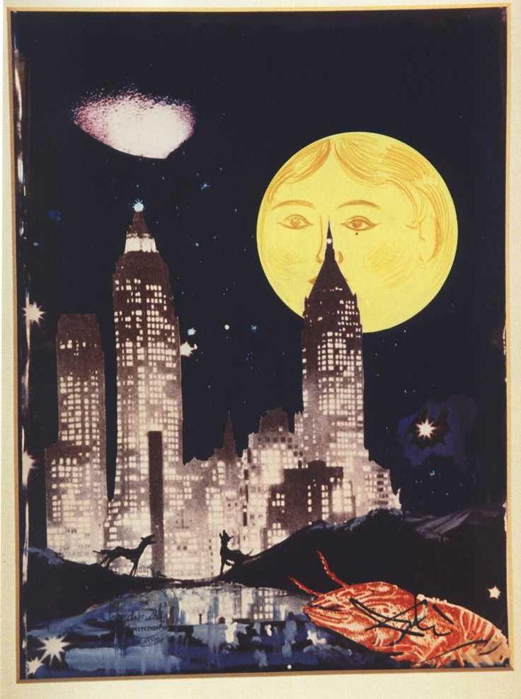 The Moon by Salvador Dali. Surrealism. cloudscape