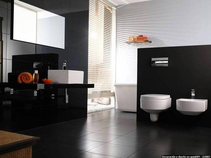 modern bathroom in black - Modern Design Bathrooms 2010