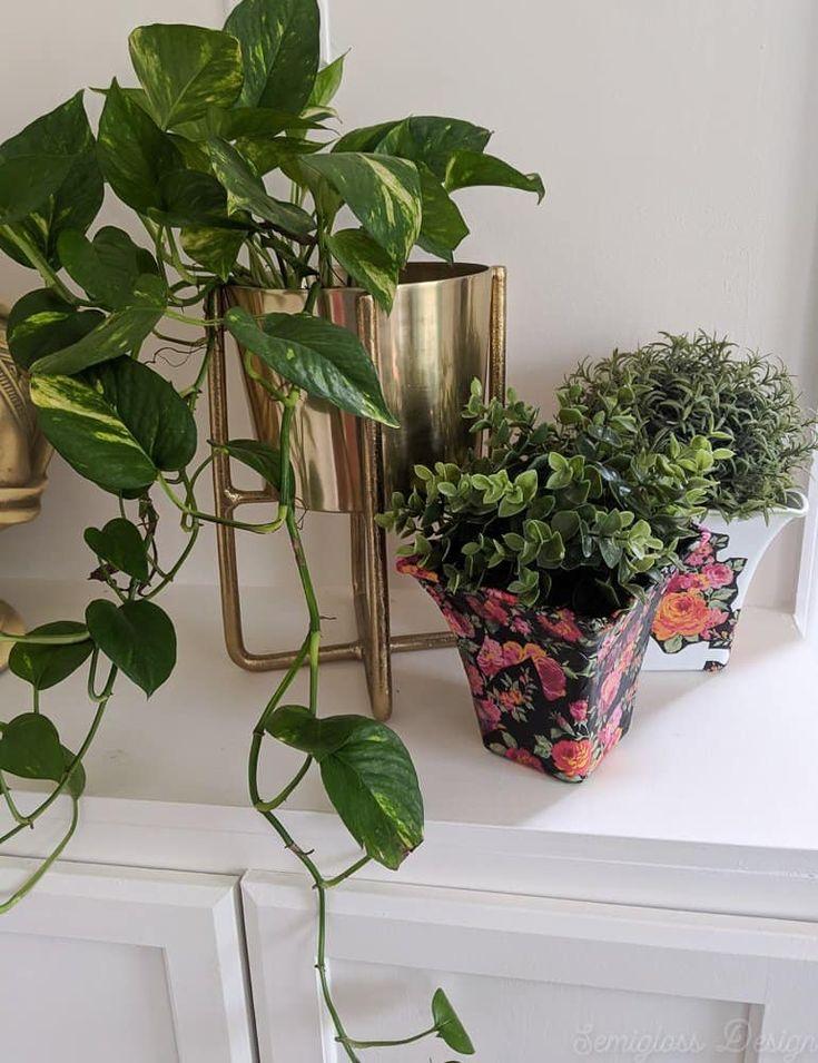 Diy decoupage flower pot for spring in 2020 diy flower