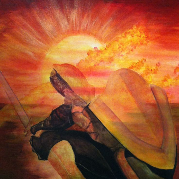 'A Sun & Shield' - Ps. 84:11 - a part of the Prophetic Art series I Acrylic.