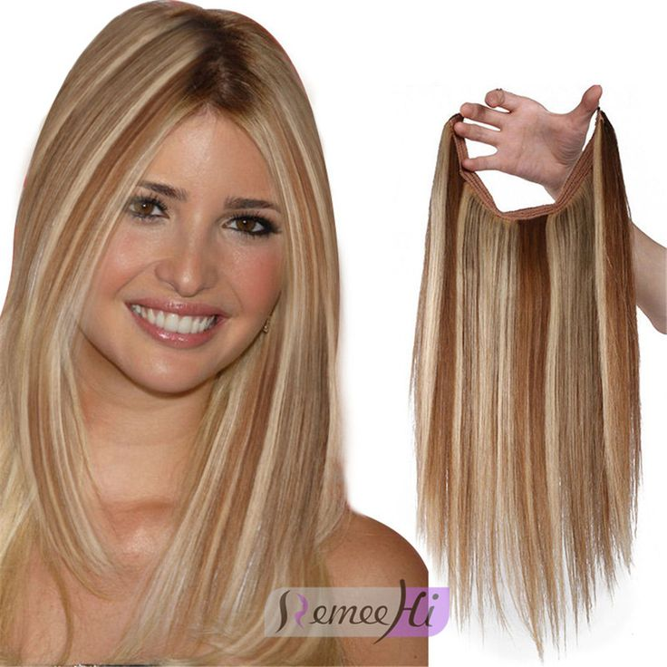 Remeehi 8 Halo Silk Straight Invisible Wire Flip Ins One Piece Secret Human Hair Extensions