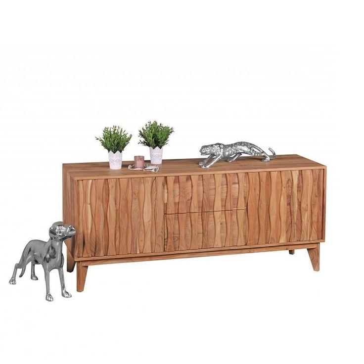 Awesome  holz massivholzkommode gro e massiv k chenkommode schrank echtholz sideboard massivholz wohnzimmer sideboards kommode esszimmer wohnz
